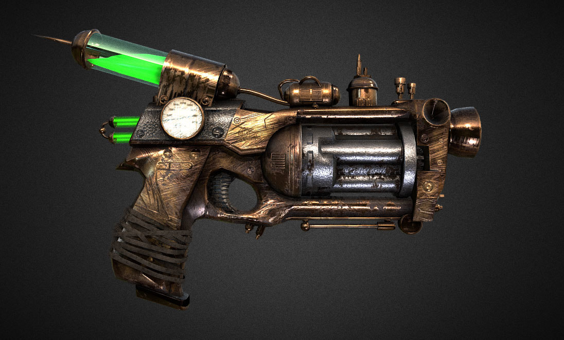 3D gun steampunk