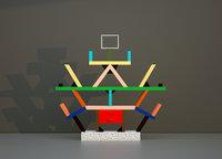 carlton bookshelf ettore sottsass 3D model