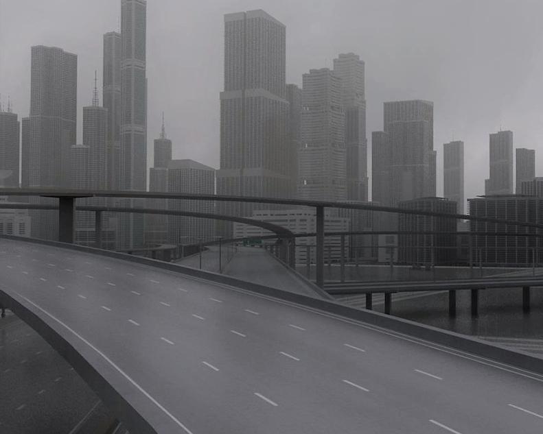 freeway city environment 3D model