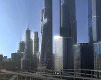 3D freeway city environment model