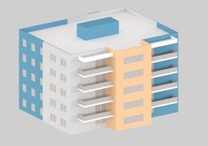 3D model house medievel cartoon