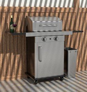 3D portable grill model