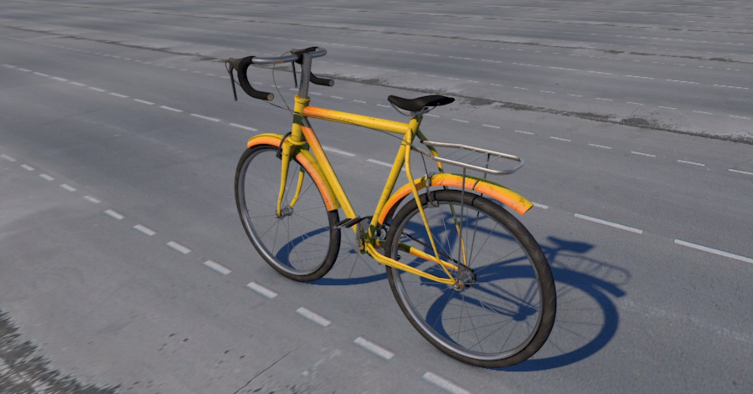 3D old bicycle