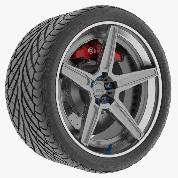 car wheel 3D