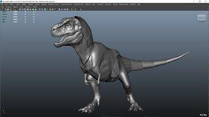 3D model trex mechanic rig