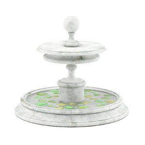 white large fountain water 3D model