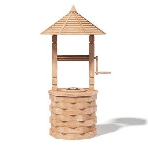 decorative light wood 3D model