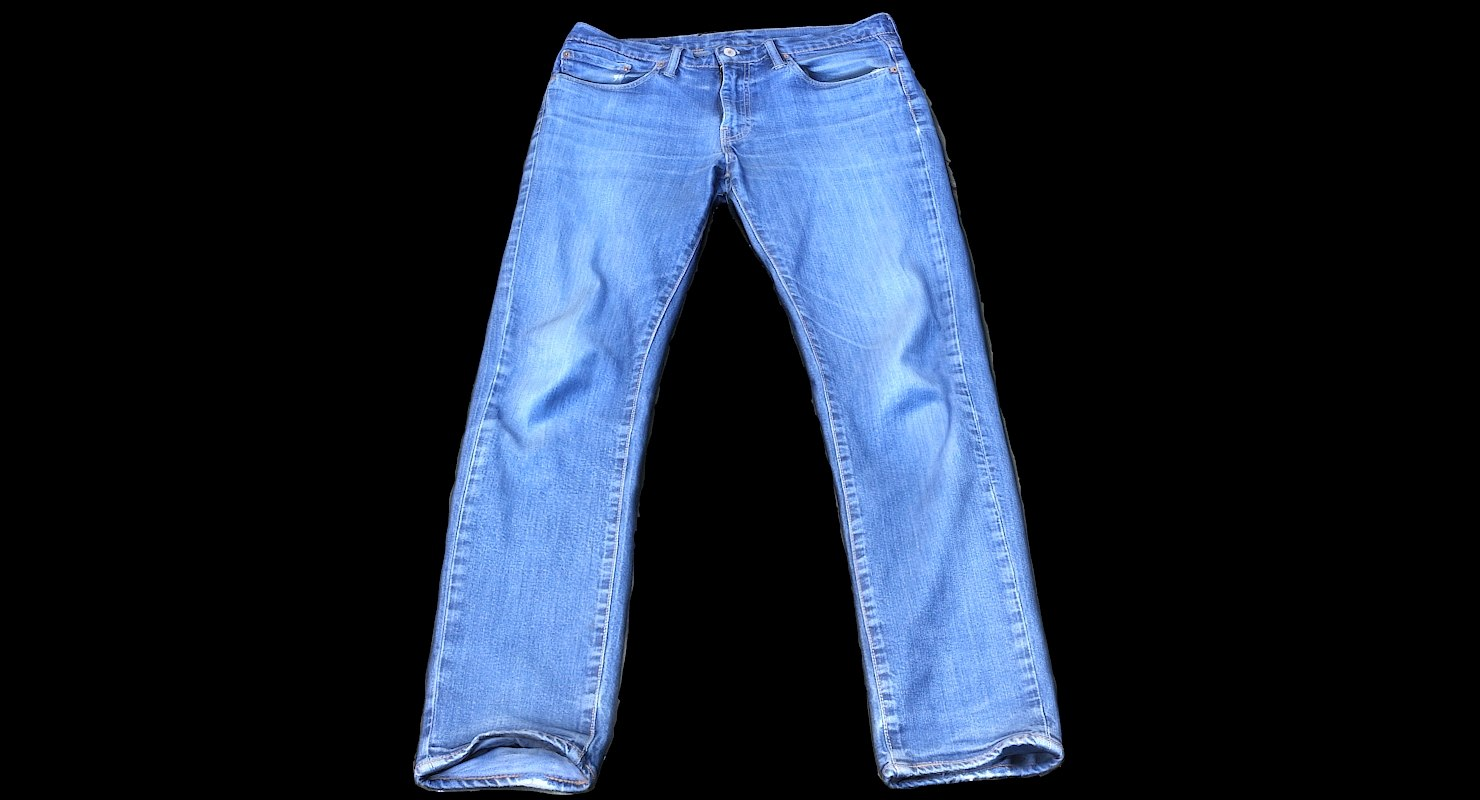 3D model jeans fashion clothing