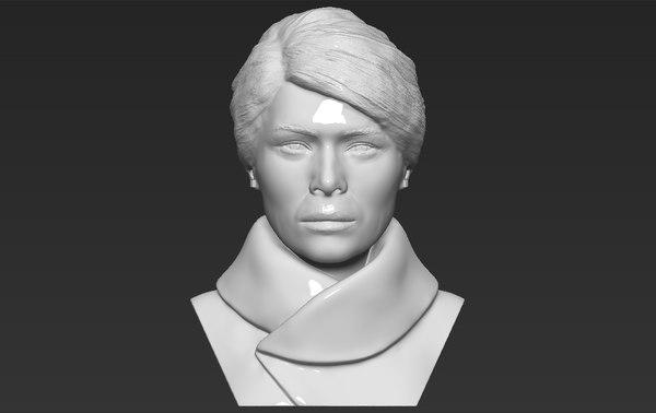 melania trump bust ready 3D