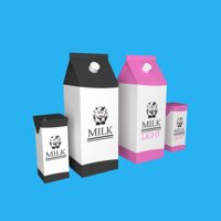 Milks Low Poly