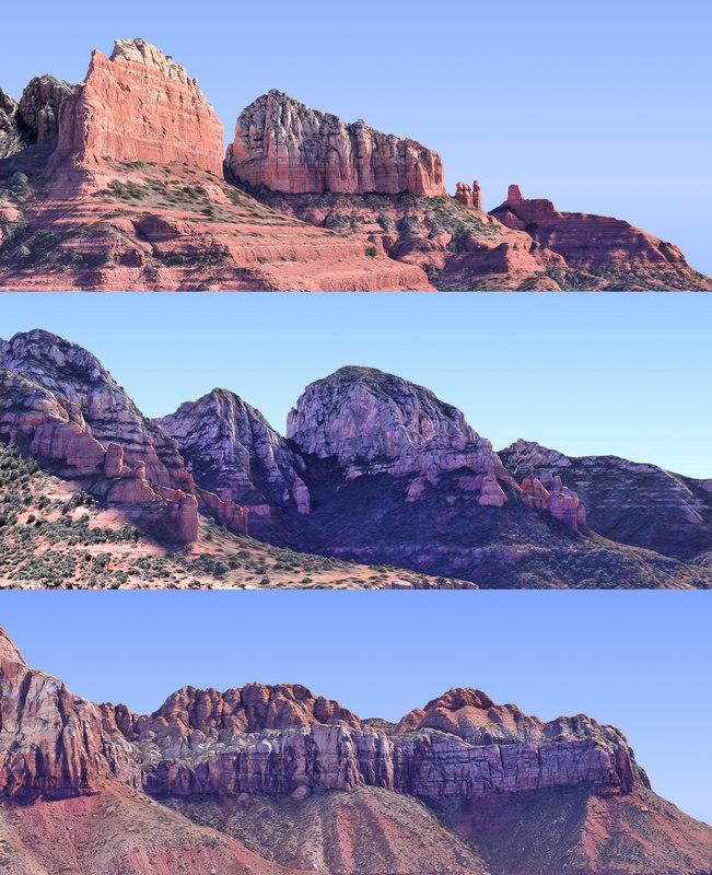 arizona mountains pack 3 3D model