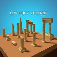 3D model columns assets