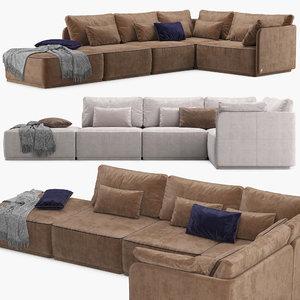 sofa smania beverly 3D model