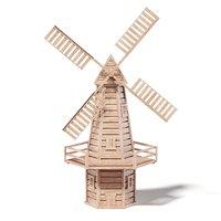 3D windmill miniature model