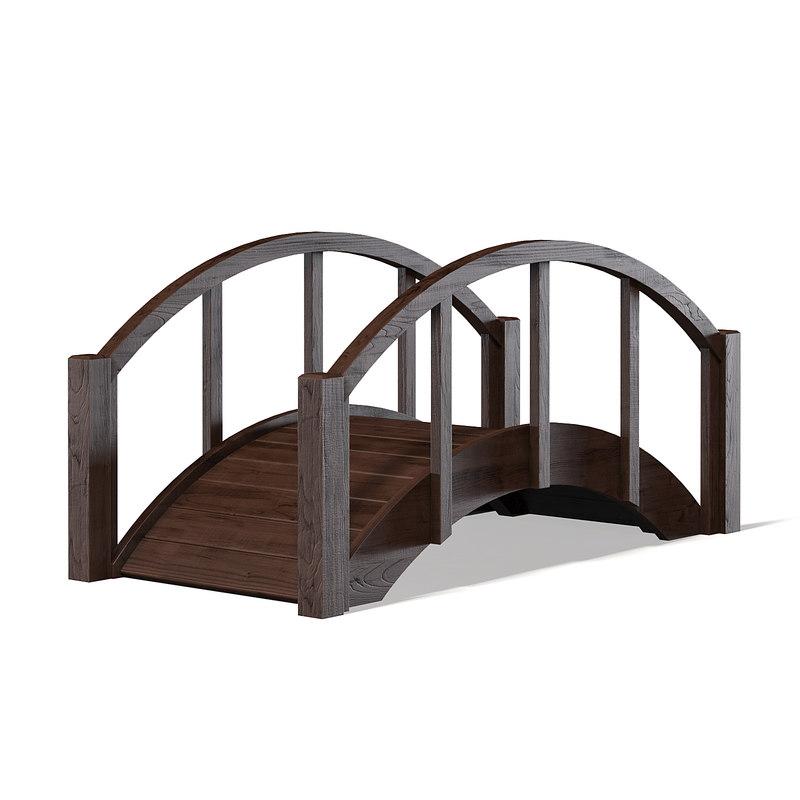 3D small bridge dark model