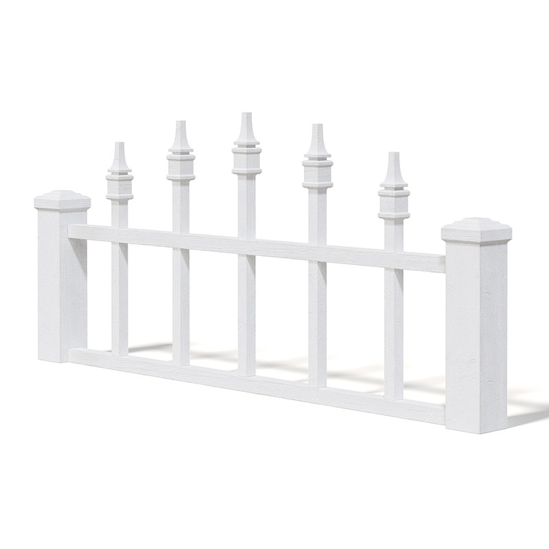 3D fence wood white