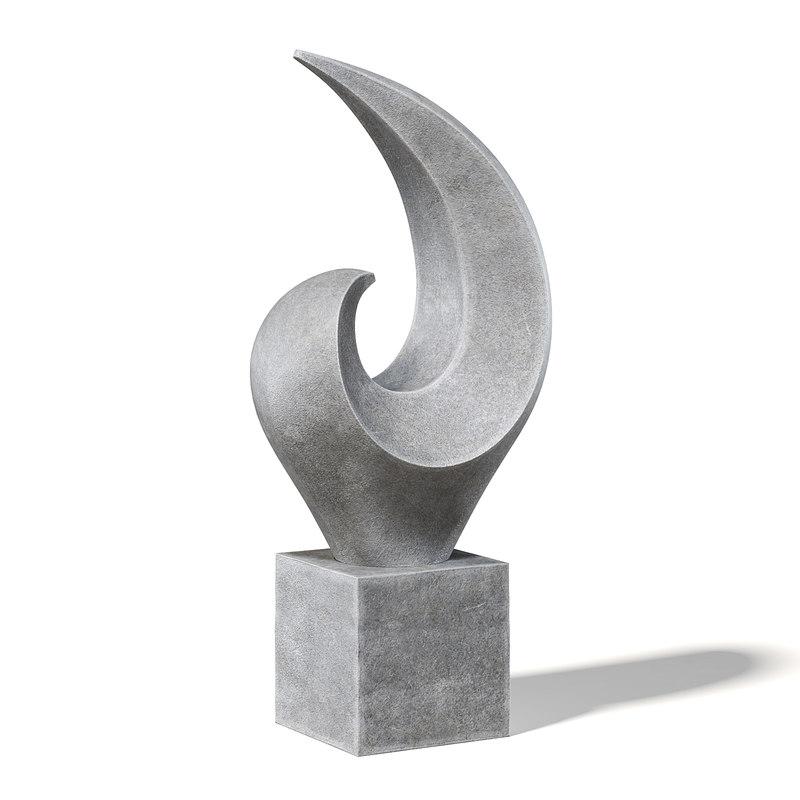 concrete sculpture model