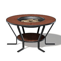 barbecue table wood 3D
