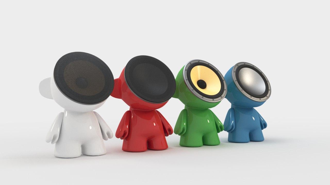 munny speakers 3D model