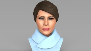 3D model melania trump bust ready