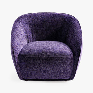 3D belle ile sofa armchair model