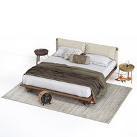3D model bed alivar cuddle