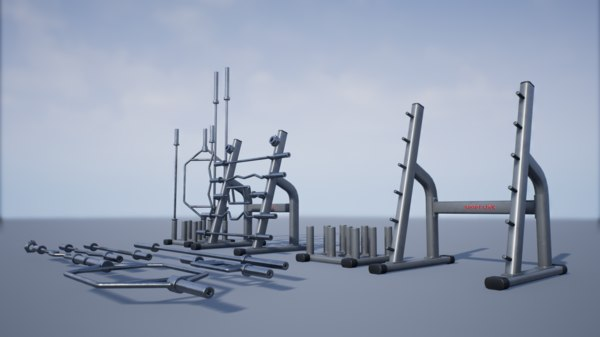 pbr training bar storage 3D model