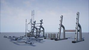 pbr training bar storage 3D model