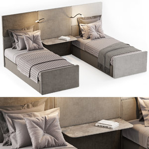 3D bed single