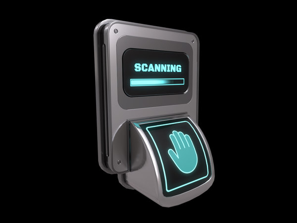 door lock biometric 3D model