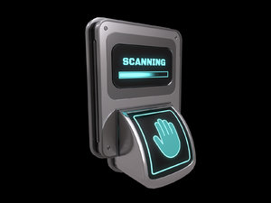 door lock biometric 3D model