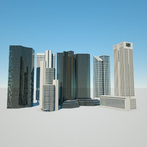 frankfurt buildings bank 3D model