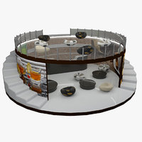 tea coffee bar 3D