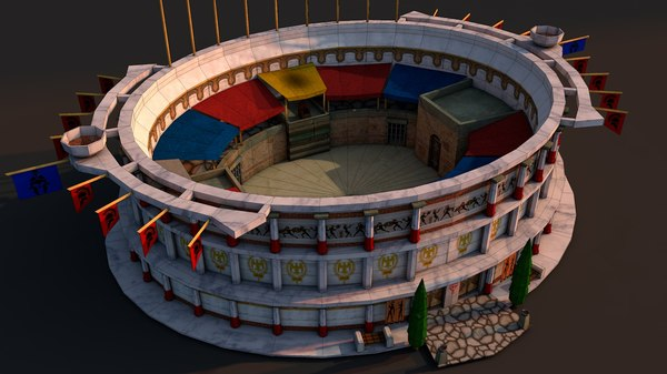 rome colosseum model