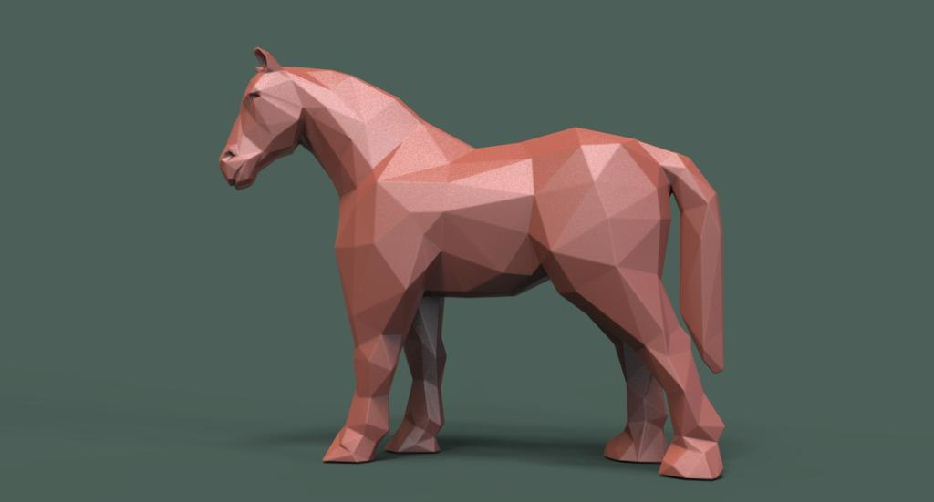 horse heavyweight 3D model