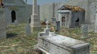 cemetery grave 3D