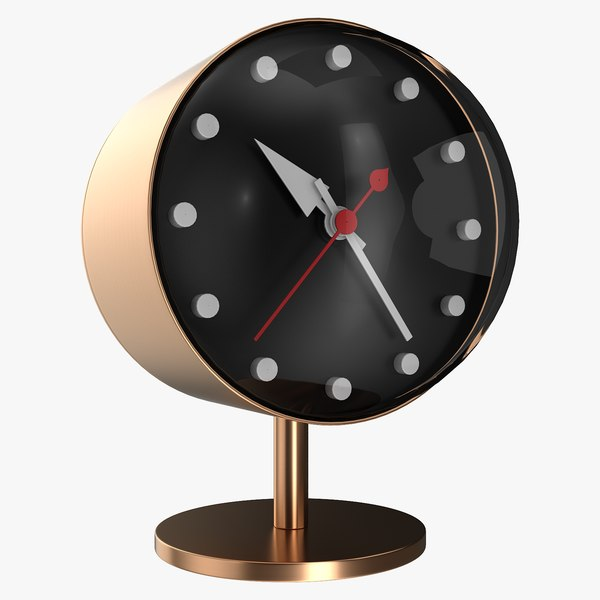 office bronze clock 3D