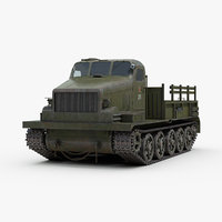 3D model ww2 at-t soviet russian artillery
