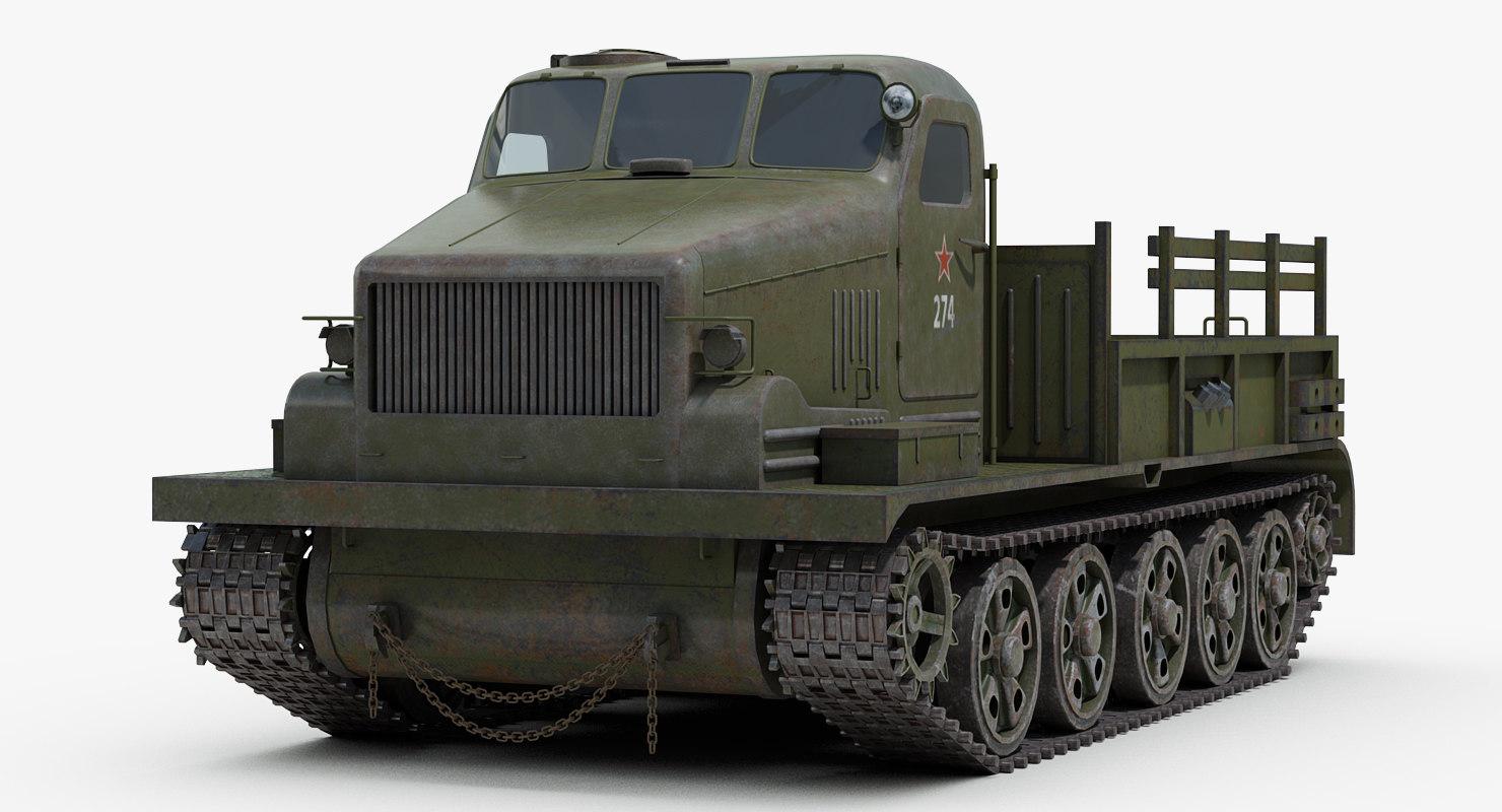 3D model ww2 at-t soviet russian artillery