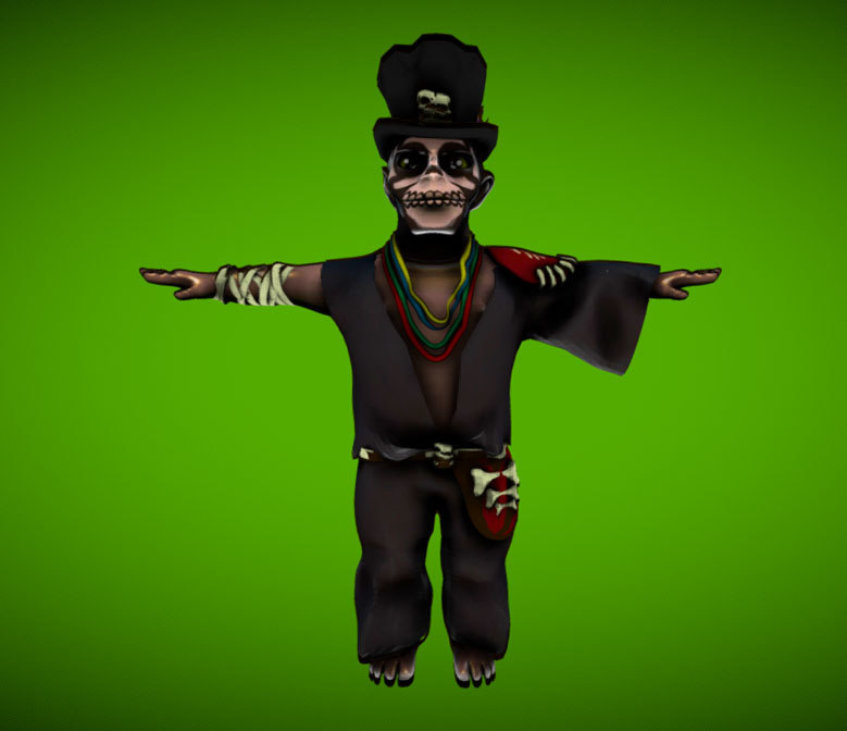 magic magician voodoo 3D model