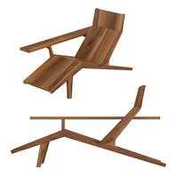 3D wood chair liberty lounger