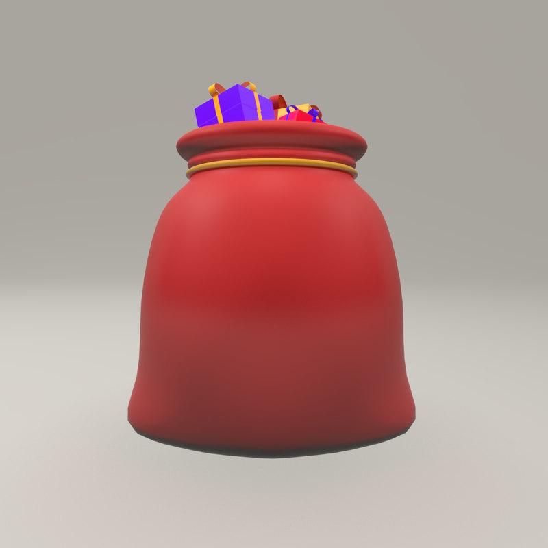 christmas sack gifts - 3D model