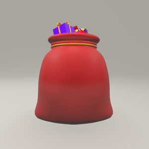 christmas sack gifts - 3D model
