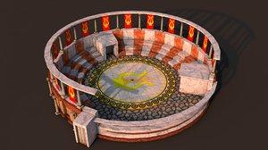 rome theater 3D model