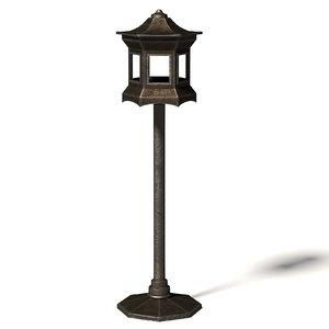 metal bird feeder 3D model