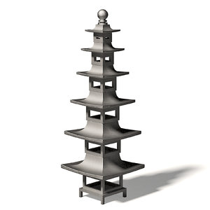 3D tall metal bird feeder model