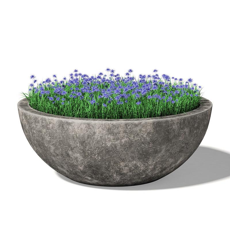3D concrete planter