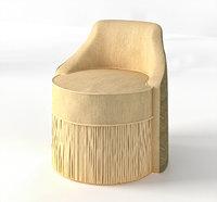 3D pouf model