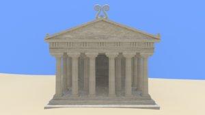 3D ancient greek temple