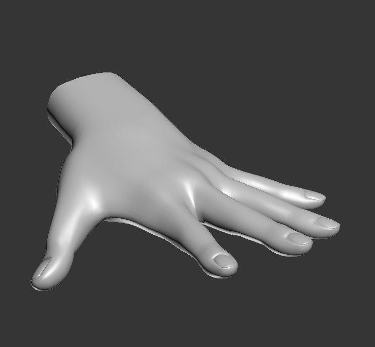 3D model spline hand sculpt